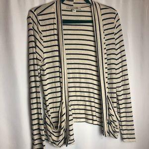 Medium forever21 striped long sleeve cardigan